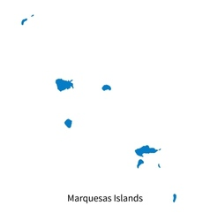 Detailed map of marquesas islands vector