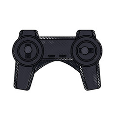 Drone remote control transmitter technology device vector