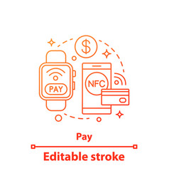 E-payment concept icon vector