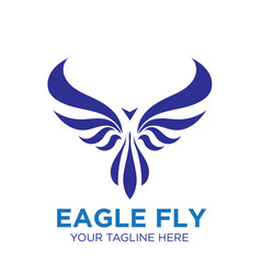 Eagle fly logo designs business phoenix vector