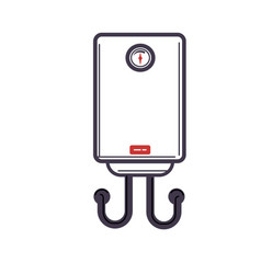 Electric water heater or boiler cartoon style vector