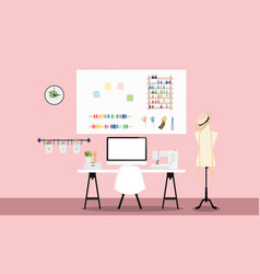 fashion workspace vector image