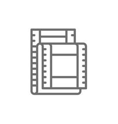 film strip cinema frames line icon vector image