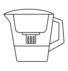 filter water jug icon outline style vector image