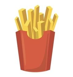 French fries potato icon cartoon style vector