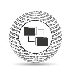 Globe binary concept files transfer vector