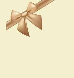golden bow background vector image