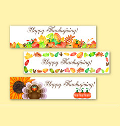 Greeting banners for thanksgiving vector