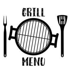 grill menu symbol vector image
