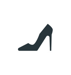 high heels simple sign woman shoe icon on white vector image