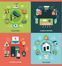 Home security design concept vector