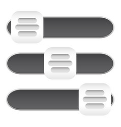 Horizontal sliders adjust bars 3 state buttons vector