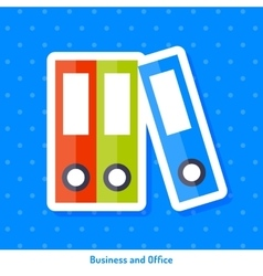 Icon of folders vector