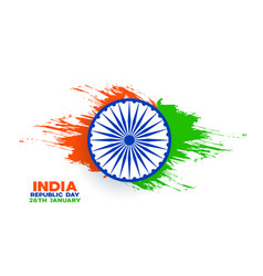 India republic day background with watercolor vector