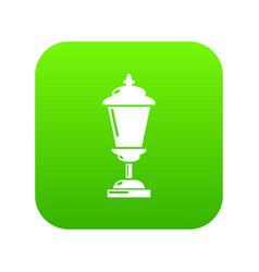 lantern icon green vector image