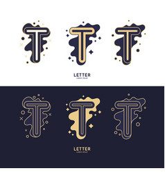 letter t latin alphabet display vector image