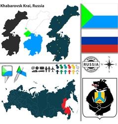 Map of Krai of Khabarovsk vector