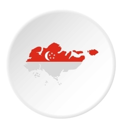 Map of Singapore icon flat style vector image