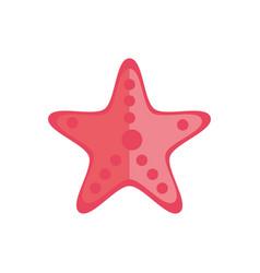 Marine life starfish cartoon sea fauna animal vector