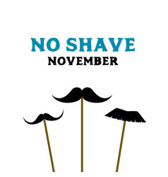 No shave november prostate cancer awareness month vector