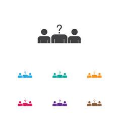 Of job symbol on vacancy icon vector