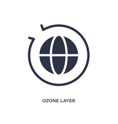 Ozone layer icon on white background simple vector
