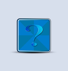 question tag symbol vector image