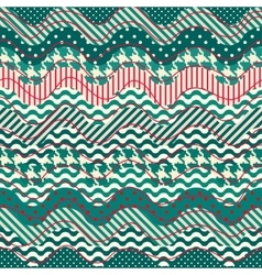 Quilting design in nautical style vector
