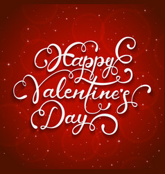 Red starry background and happy valentines day vector