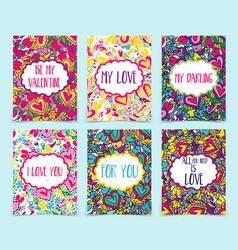 set creative holidays journaling cards vector image