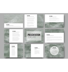 Set of 9 templates for presentation slides Sea vector image vector image