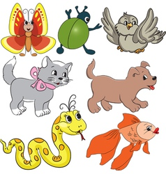 Set of baby toys vector