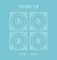 Set of monogram letter b vector