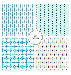 set-pattern-five vector image