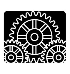 settings engine icon black vector image