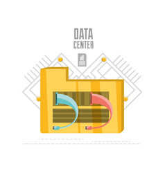 Share documents and files data center vector