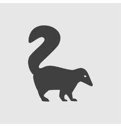 Skunk icon vector image