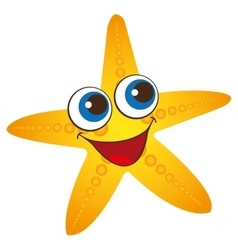 star fish summer isolated icon vector image