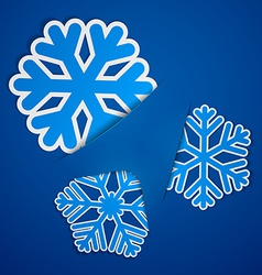 Sticky paper snowflakes vector image