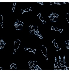 Sweet a seamless pattern4 vector image