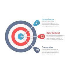 Target infographics vector