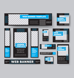 template black web banners with place vector image