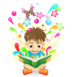 the joy of learning vector image