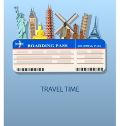 travel and Flights background vector image