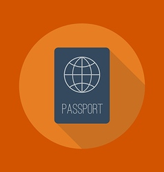 Travel Flat Icon Passport vector