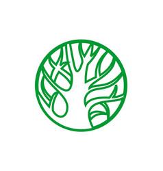 tree logo green concept icon vector image