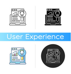 user research icon vector image