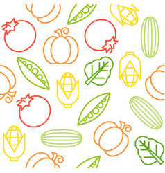 vegetable seamless pattern for use as wallpaper vector image
