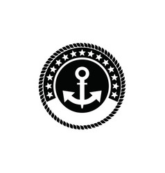 vintage sailor badge logo design vector image
