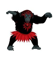wise monkey vector image